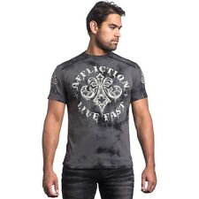 Affliction Royale Rust Raw Edge Tee Men's Size S