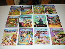 VINTAGE MINI COMIC LOT 12 MASTERS OF THE UNIVERSE MOTU BOOKS ALL DIFFERENT