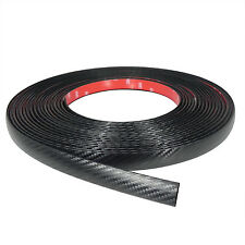 Black Carbon Fiber Auto Accessory Body Trim Wheel Well Fender Molding 10' DIY
