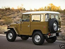 1977 Toyota LAND CRUISER FJ40, Jeep, Rear Angle, Refrigerator Magnet, 40 MIL