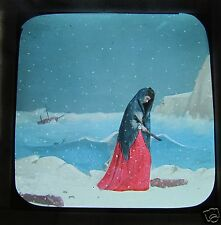 Glass Magic lantern slide A TERRIBLE CHRISTMAS EVE NO.13 C1890 VICTORIAN TALE