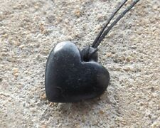Indian handcarved soapstone pendant ~ single heart design