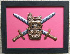 Large Scale Framed BRITISH ARMY INSIGNIA Badge Plaque