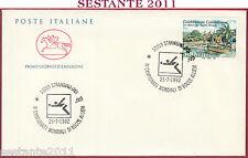ITALIA FDC CAVALLINO CAMPIONATI MONDIALI BOCCE ALLIEVI 1992 AN. STROMBINO TO S87