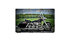 1976 harley flh Bike Motorcycle A4 Photo Poster