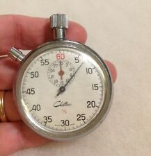 Vintage Chateau Working Stopwatch Pocket Timer Swiss Made Chateau 1/5 L@@K