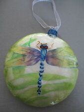 DRAGONFLY  ~ CAPIZ SHELL ORNAMENT        1600C*