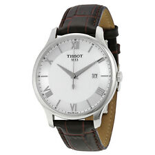 Tissot Tradition Gents Brown Leather Stainless Steel Mens Watch JD5CJP