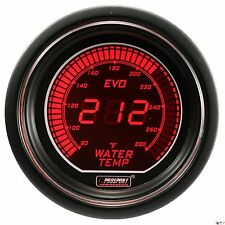 PROSPORT 52mm EVO Series Digital Red / Blue Led Water Temperature Gauge F