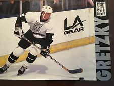 "WAYNE GRETZKY  LA.KINGS 1990S STREET HOCKEY POSTER EXCELLENT CONDITION 24""X36"""