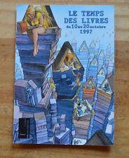 Carte postale Le Temps des Livres 1997, illustration de François Bourgeon