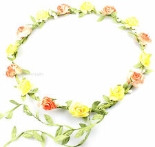 FLOWER HEAD GARLAND CROWN FLORAL HAIR GARLAND FESTIVAL WEDDING HOLIDAY PROM HAIR