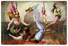 Female Trapeze Artist Circus Sign