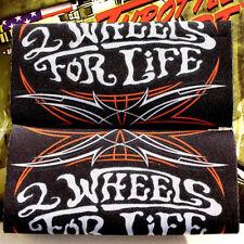 Biker Motorrad 2 Wheels 4 Life Pinstripes Griff Lenker Gas Throttle Grip Cover