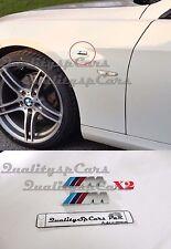 X2 BMW M emblem LATERALI M badge LOGO Motorspor sticker metallo ADESIVO M-Series
