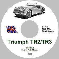 Triumph TR2, TR3 and TR3A Factory Parts Catalogue Manual on CD