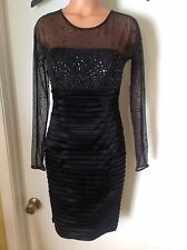 Calvin Klein Beautiful Classy Black Dressy Dress Size 4.