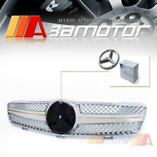 FRONT HOOD CHROME GRILLE GRILL for 08-13 MERCEDES W204 C-CLASS C250 C300 C350