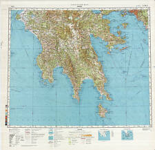 Russian Soviet Military Topographic Maps - ATHENS (Greece), 1:500 000, ed.1988