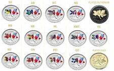 2012 - Canadian Penny - Plated Silver Provincial Flags 15 Coins set