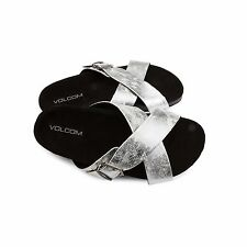 2016 NWB WOMENS VOLCOM RELAX SANDALS $50 7 silver