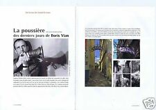 Coupure de presse Clipping 2015 Boris Vian  (8 pages)