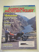 December 1995 American Motorcyclist Magazine, Westward On a Wing (BD-17)