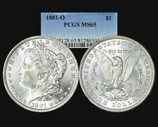 1881 O MORGAN DOLLAR PCGS MS 65 BRIGHT WHITE NO TONING