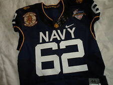 Heap 2013 Navy vs Army Naval Academy Midshipmen Nike Authentic Game Jersey Sz 44