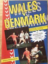 Wales V Denmark European Qual 1987