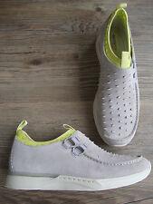 new CLARKS Sportswear Taguar Fugo grey suede modern wallabees  size 8.5  US 9.5
