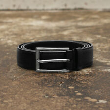 NEW Mens Prada Black Saffiano Leather Belt Thin Buckle GENUINE RRP:£175 Size 110