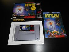 Out Of This World Super Nintendo SNES Game Complete CIB