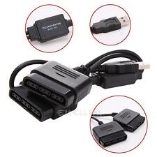 Game Controller Female to USB Converter Adapter Cord For Sony PS2 PS1 Dual Port