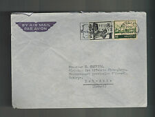 1948 Geneva Switzerland airmail cover to Tel Aviv Israel Embassy