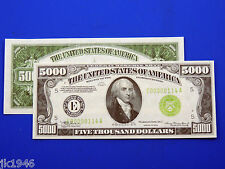 Replica $5000 1934 FRN US Paper Money Currency Copy