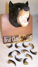 4  BLACK BEAR REPLICA CLAWS bears nails WILD animal claw LOT new items pendant