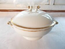 Haviland Limoges Round White Gold Covered Dish Vegetable Bowl Wedding Ring