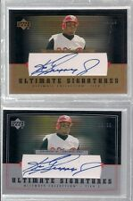 2002 UD ULTIMATE SIGNATURES TIER 2 GRIFFEY AUTOS GOLD 09/10 AND SILVER 23/30