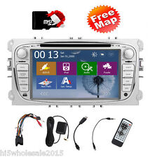 "Double 2 Din 7"" GPS Navigation Car Stereo DVD Player Radio For Ford Focus Mondeo"