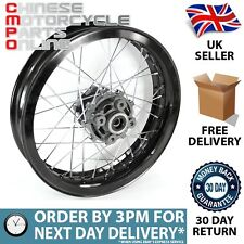 Supermoto Rear Wheel 17x3.00 (Disc Brake), Grey Hub