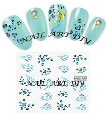 20 Nail Art Stickers Water Transfer-Tattoo Adesivi Unghie Leopardo-BUY 3 GET 4!!