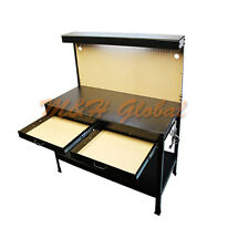 Multipurpose Workbench W/ Lighting 3 Outlet Plug Tool Workstation Tool Stor