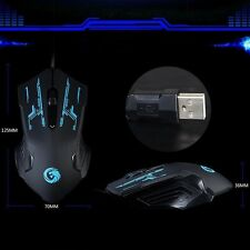 Generic Fast 3200DPI 2.4G Optical USB Wired Gaming Mouse Mice for Laptop Blue