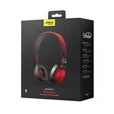 Jabra MOVE Bluetooth Wireless Stereo On Ear Headphones Black Red