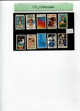 10 PCS USED STAMPS - USA FAMOUS PEOPLE ETC # S165