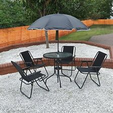 Gelusa Garden Patio Furniture Set 6 Seater Dining Set Parasol Table And Chairs