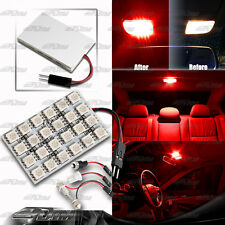 T10/Festoon/BA9S12 SMD RED LED Interior Dome / Map Light Bulb Panel For NISSAN