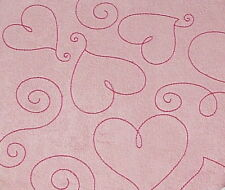 "Pink Suede Heart 6X6"" Post Bound Scrapbook Album - Crafty Koala"