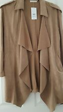 BNWT New look Faux Suede Tan Jacket size L